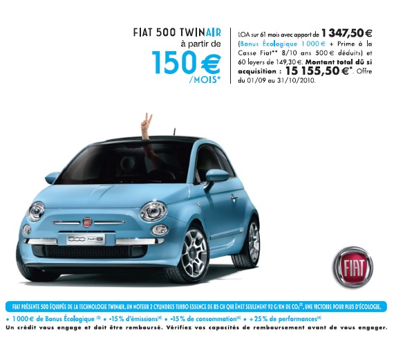 fiat500 partir de 150 par mois en loa acheter ou louer sa voiture. Black Bedroom Furniture Sets. Home Design Ideas